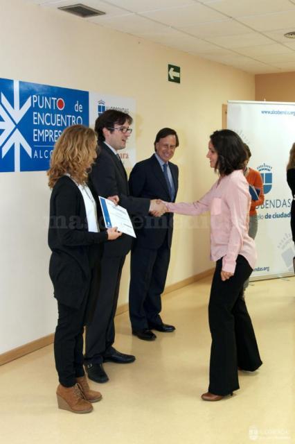 Recepción de diplomas Pymes Alcobendas - Rosalía Menéndez