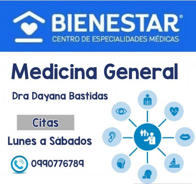 CONSULTA DE MEDICINA GENERAL  - Dra. Dayana Bastidas Espín