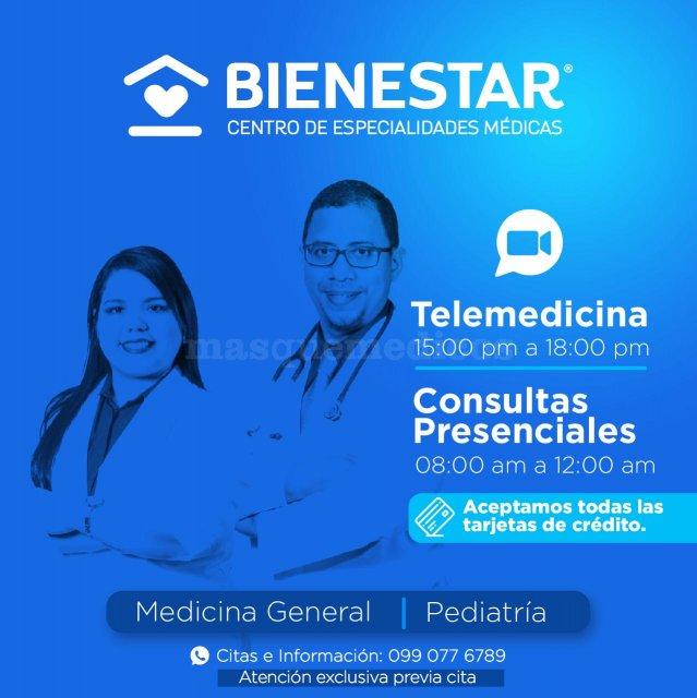 CONSULTA PRESENCIAL Y TELECONSULTA  - Dra. Dayana Bastidas Espín