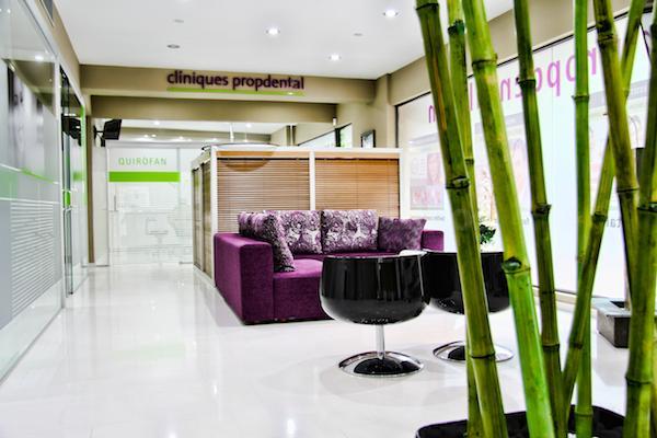 sala de espera - Clínica Dental Propdental Encants