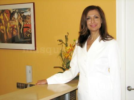 Carmen Torrado, psicóloga colegiada 17252, en la recepción - Carmen Torrado
