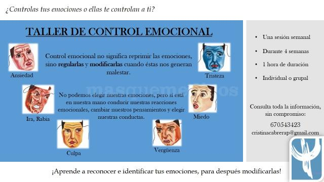 Taller de control emocional - Cristina Cabrera