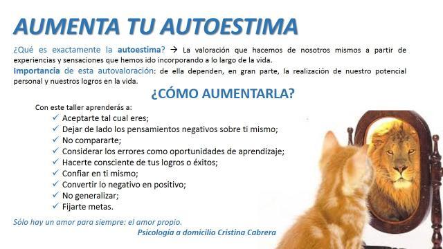 Taller de autoestima - Cristina Cabrera
