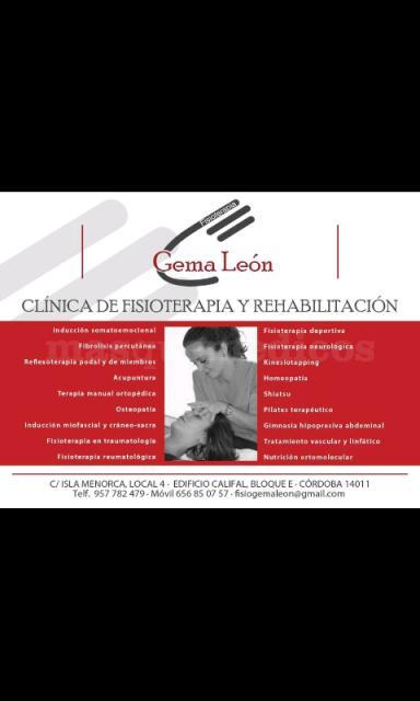- Clínica de Fisioterapia y Rehabilitación Gema León