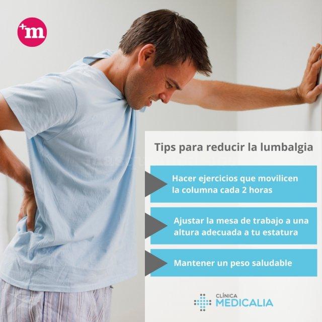 Tips para reducir la lumbalgia - Clínica Medicalia