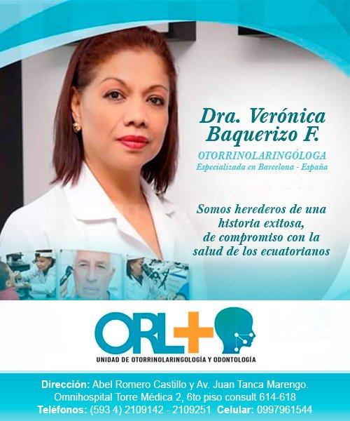 Dra. Verónica Baquerizo, otorrinolaringóloga en Guayaquil - Esperanza Verónica Baquerizo Flores