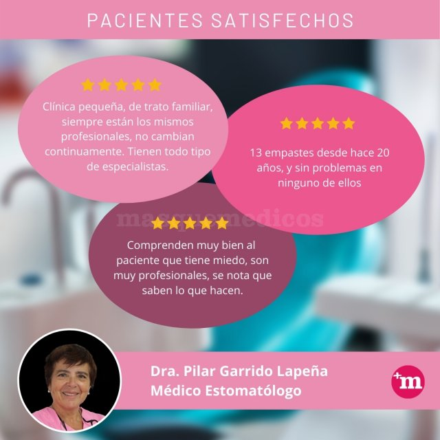 Opiniones Pilar Garrido Lapeña - Doctora Pilar Garrido Lapeña