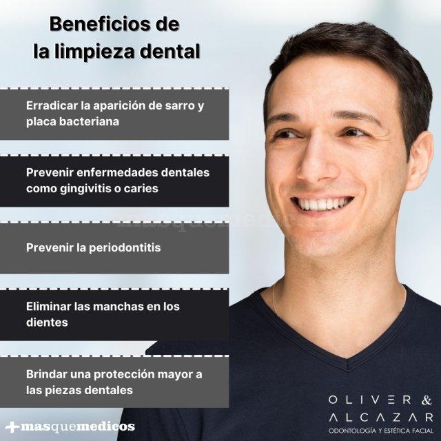 Beneficios de la limpieza dental - Oliver & Alcázar