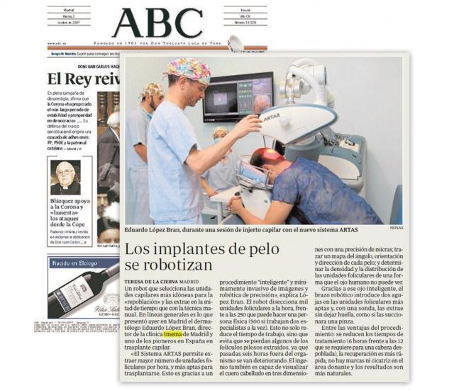 Los trasplantes de pelo se robotizan - Eduardo López Bran