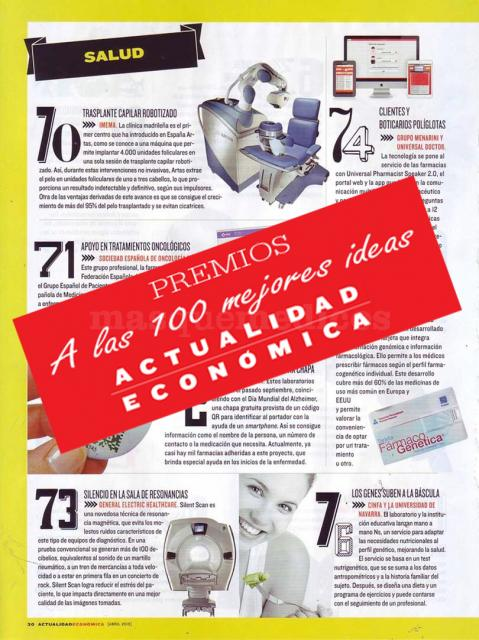 Robot Artas entre las 100 mejores ideas 2014 - Eduardo López Bran