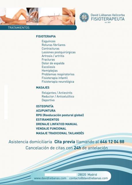 Tratamientos - David Liébanas Vallcorba