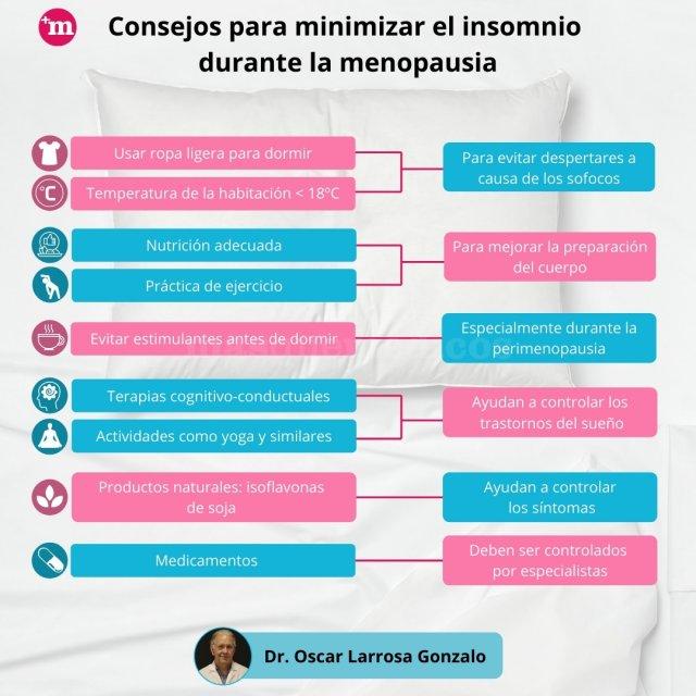 Consejos para minimizar el insomnio  durante la menopausia - Oscar Modesto Larrosa Gonzalo - Oscar Modesto Larrosa Gonzalo