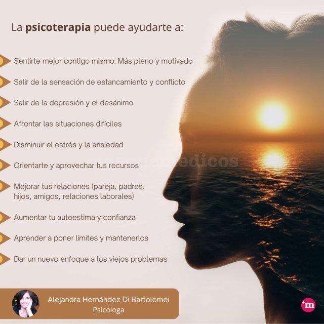 ¿Cómo te ayuda la psicoterapia? - Alejandra Hernández Di Bartolomei