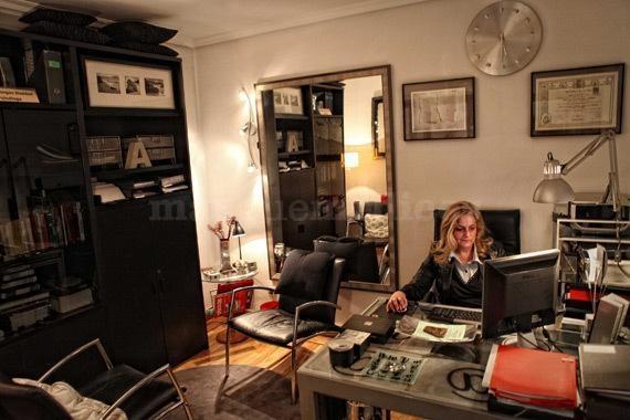 Ana Benegas en su gabinete
