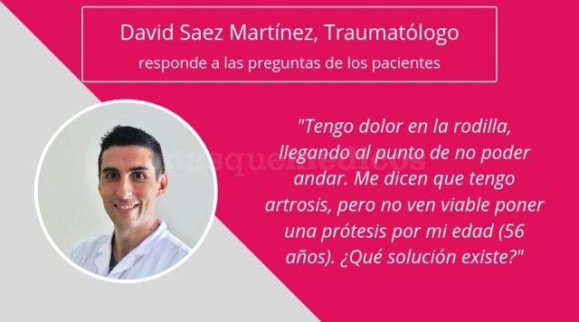 El Dr. David Saez Martínez responde a pregunta de paciente sobre artrosis - David Saez Martínez