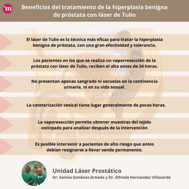 Beneficios del tratamiento de la Hiperplasia Benigna de Próstata con láser de Tulio - Santos Giménez Artieda