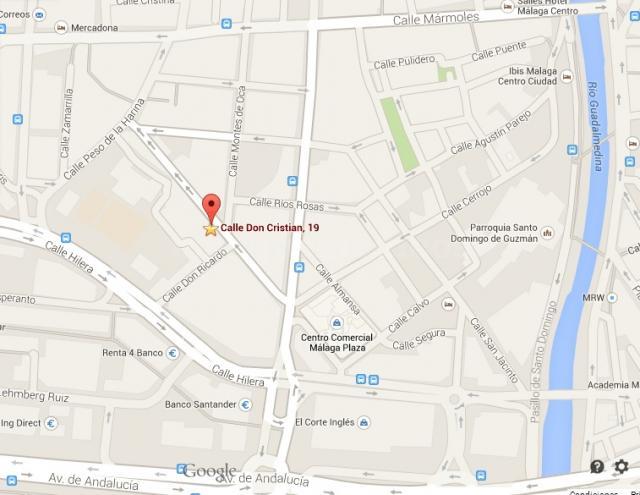 Situación en Mapa - Gabinete Psicológico Málaga Centro