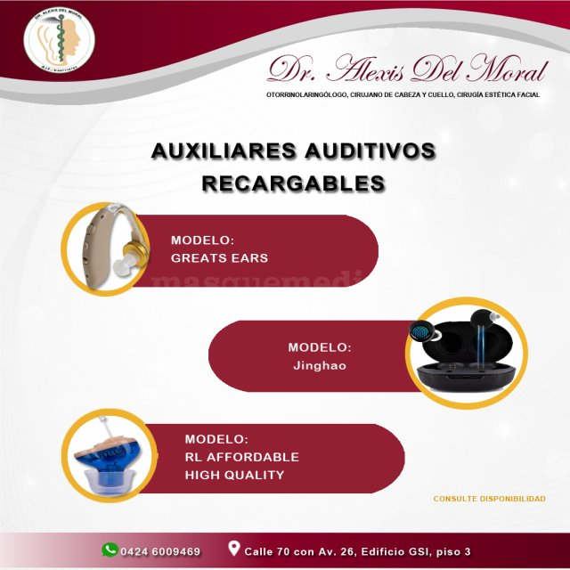Auxiliares Auditivos Recargables - Centro De Otorrinolaringologia De Maracaibo  C.a
