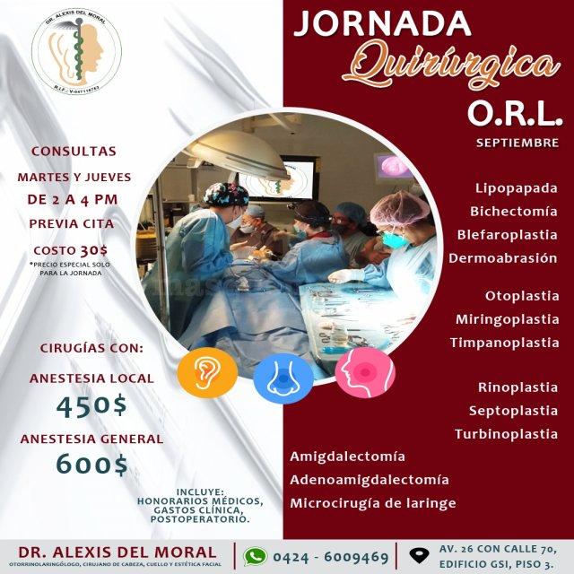 Jornada Quirúrgica ORL - Centro De Otorrinolaringologia De Maracaibo  C.a