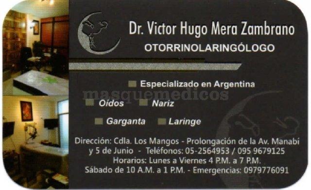 - Víctor Hugo Mera Zambrano