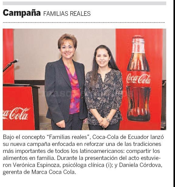 Familias Reales - Campana de Coca Cola - Verónica Espinosa