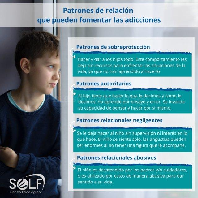 Patrones de relación que pueden fomentar las adicciones - Centro Psicológico Self