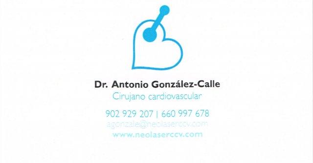 Dr Gonzalez Calle. Cirujano Cardiaco en Neolaser Cardiovascular - Antonio González Calle