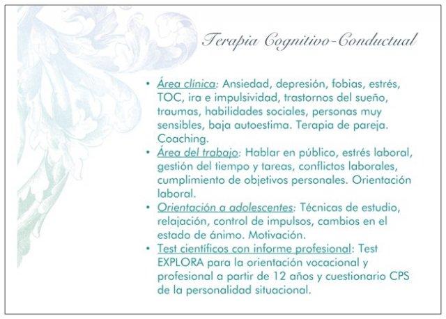 Descripción de servicios - Cristina León