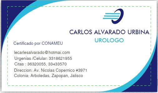 - Carlos Alvarado Urbina