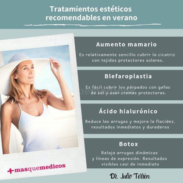 Dr. Julio Terrén - Tratamientos estéticos recomendables en verano - Doctor Julio Terrén Ruiz