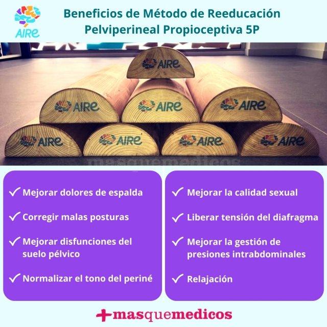 Beneficios de Método de Reeducación Pelviperineal Propioceptiva 5P - Centro Aire Valencia