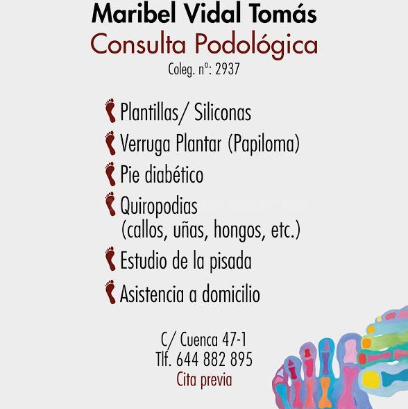 Maribel Vidal, consulta de podología - Maribel Vidal