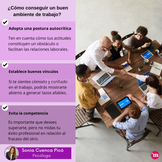 ¿Cómo conseguir un buen ambiente de trabajo? - Centro de Psicología Sonia Cuenca