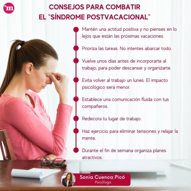 Consejos para combatir el síndrome postvacacional - Centro de Psicología Sonia Cuenca