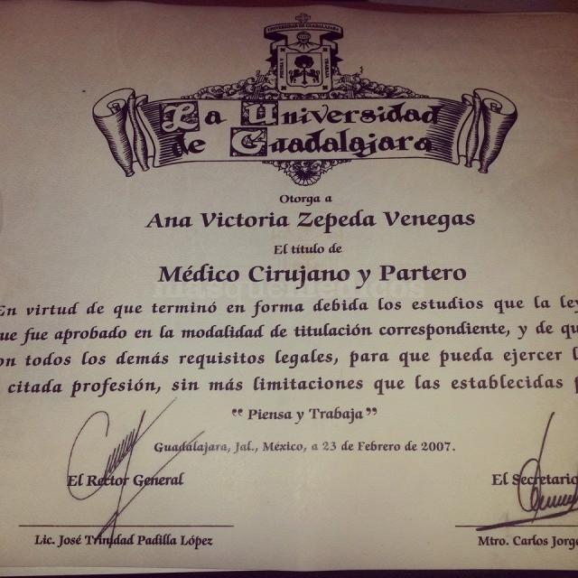 - Ana Victoria Zepeda Venegas