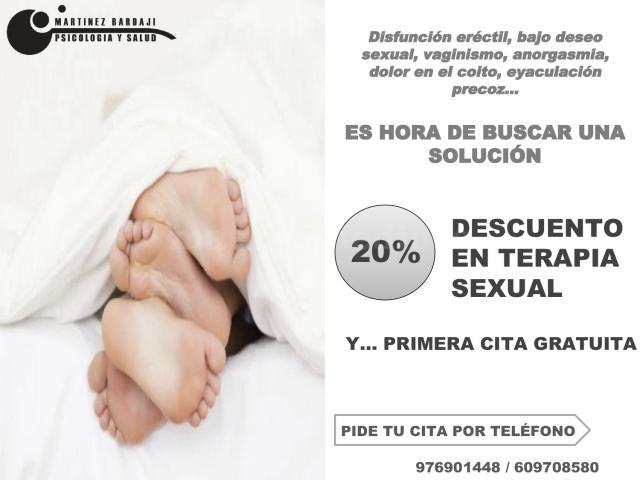 Oferta terapia sexual - Martínez Bardaji Psicología y Salud