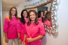 Las doctoras Isabel y Carolina De Larroque y Isabel Herrero Torres - Clínica Dental Infante Don Luis